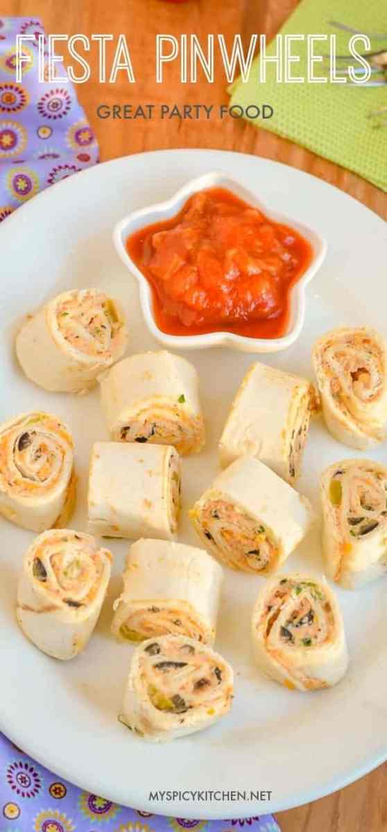 Fiesta Pinwheels, Yummy Party Food
