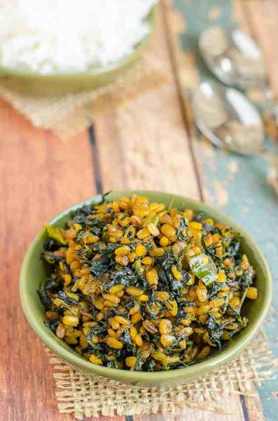 Menthi Aaku Pesaru Pappu Koora,  Fenugreek Leaves Green Gram Curry, Telangana Food, Telangana Cuisine, Andhra Food, Indian Food, South Indian Food, Journey Through Regional Cuisine,