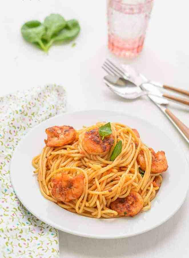 Italian Cuisine, Italian Food, Spaghetti, Pasta, Shrimp, Gamberi, Blogging MArathon