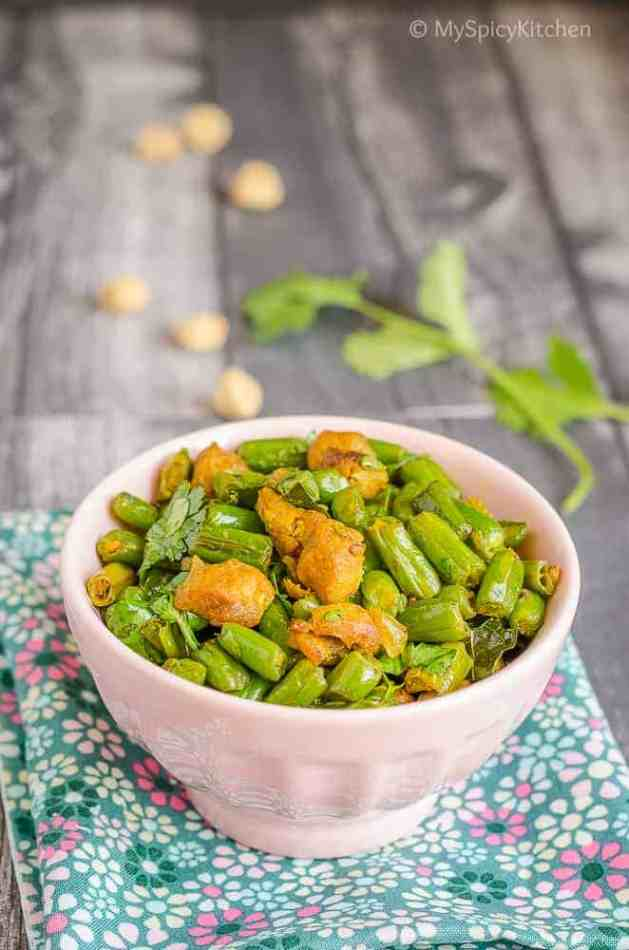 Green Beans, Green Beans Curry, Green Beans Soya Chunks Curry,  Green beans Meal Maker Curry, Green Beans Fry, Green Beans Soya Fry, Blogging Marathon,  Indian Dry Curry,
