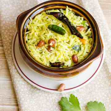 Pulihora, Mango Pulihora, Mango Rice, Raw Mango Rice, Mamidikaya Pulihora, South Indian Rice, South Indian Food, South Indian Cuisine,
