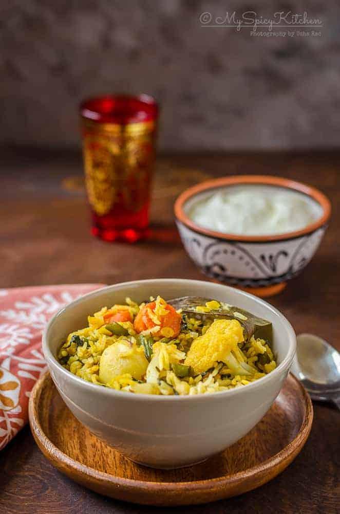 Toor Dal Vegetable Khichdi, Toor Dal Khichdi,  Arhar Dal Khichdi, Lentil Vegetable Rice,  Blogging Marathon, Kandi Pappu Khichdi, Kandi Pappu Annam,