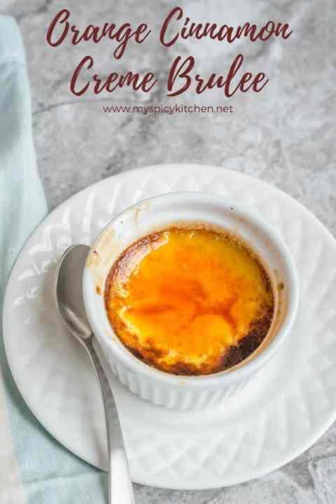 Orange Cinnamon Creme Brulee Ramekin