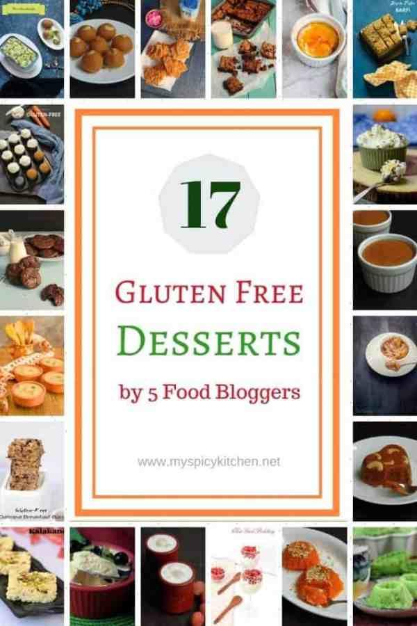 Collage of gluten free desserts
