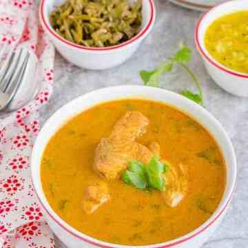 Fish pulusu or chepala pulusu is a tangy fish curry. It is a side for rice.