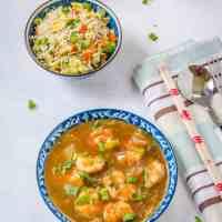 Indo Chinese Chili Shrimp Gravy