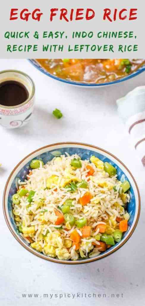 Flavorful Indi Chinese egg fried rice