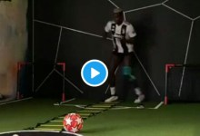 Photo of Man Utd Star Paul Pogba Continues Training At Home In Juventus Kit (VIDEO)