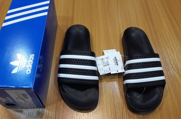 Authentic Adidas Adilette Black Slide