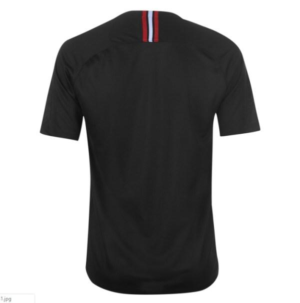 8466151a2 PSG FC 2018 19 Jordan Black Third Jersey back