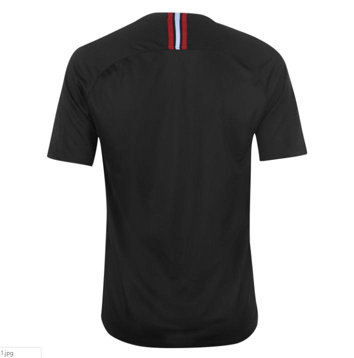 big sale 3574b be592 PSG FC 2018/19 Jordan Black Third Jersey
