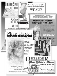 Newspaper Advertisement Layout and Design