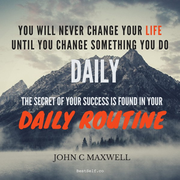 daily routines for success