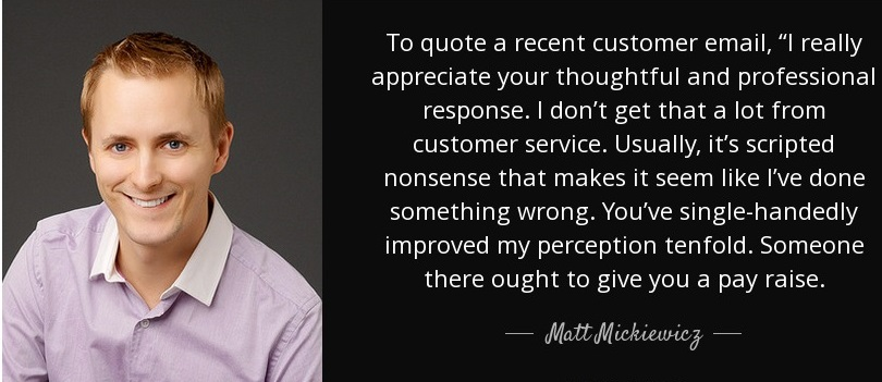 satisfy and keep your customers, personalize appreciation