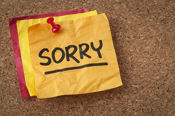 satisfy and retain angry customers, apology