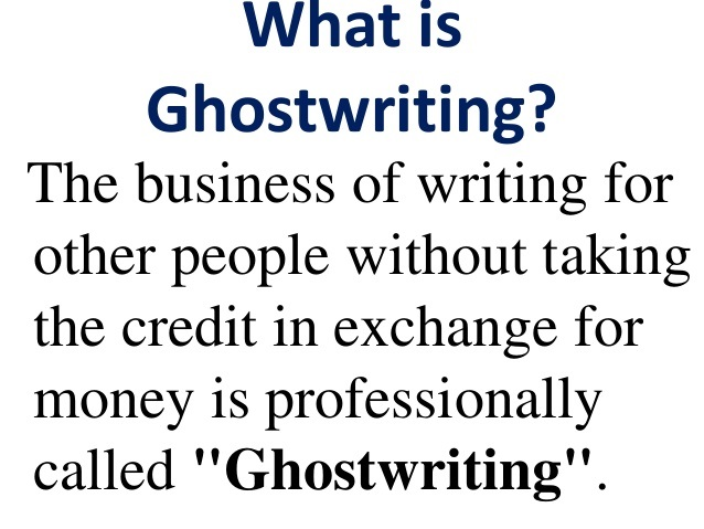 weekend business ideas, ghostwriting
