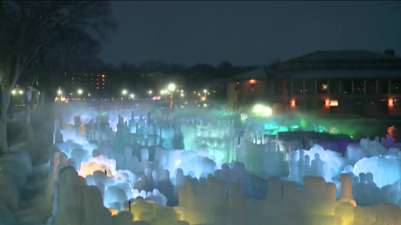 Lake Geneva Ice Castles now open; see how they were made