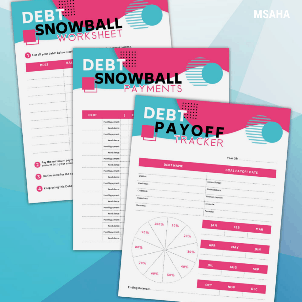 Free Debt Snowball Printable Kit To Help You Start Your