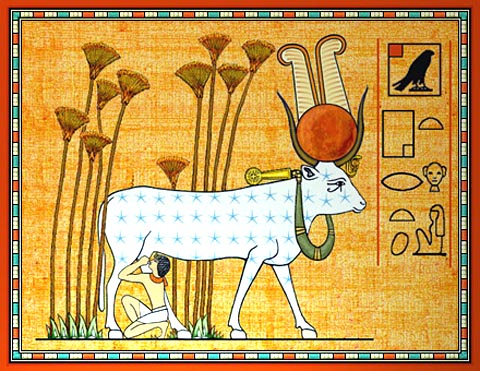 'In the Primal Marsh Hathor Protects and Nourishes the Horus-prince' by Dale R. Broadhurst