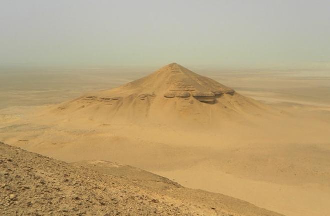 En esta imagen puede apreciarse claramente la sospechosa forma piramidal.