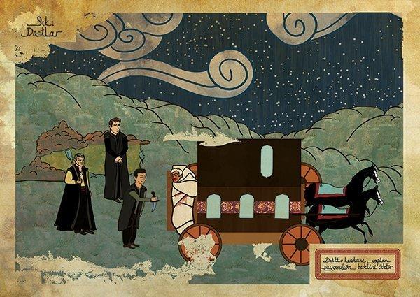 Turkish Artist Murat Palta Recreates Cult Movie Scenes As Ottoman Miniature Art goodfellas