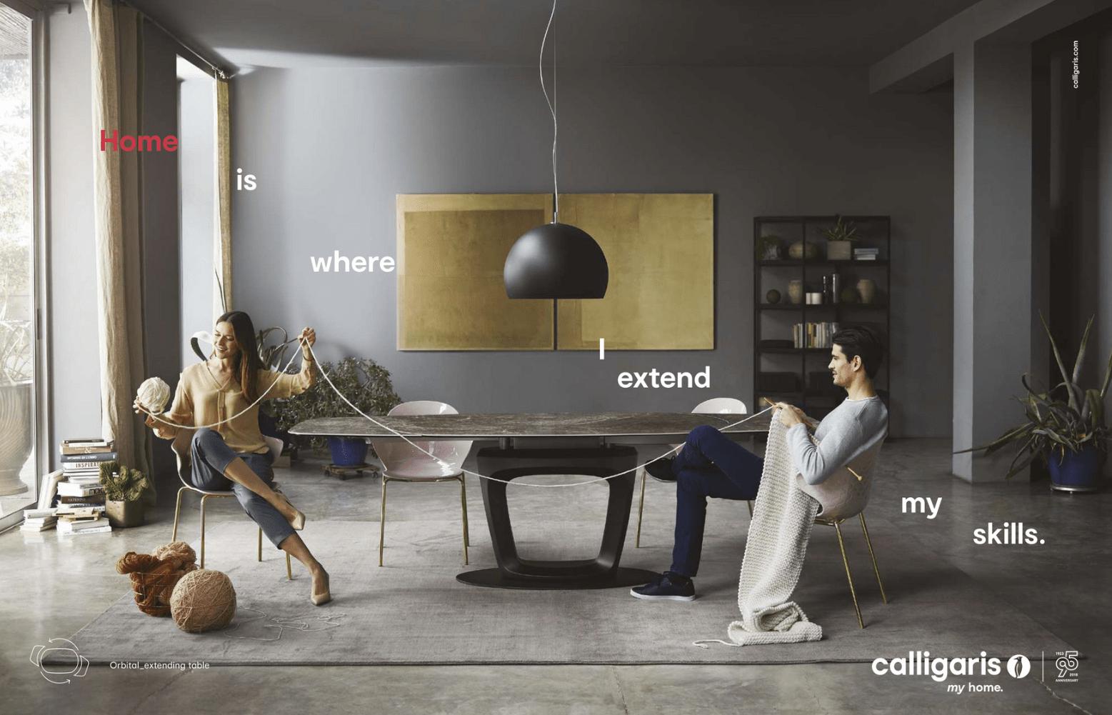 Calligaris Home Ad Mystery Tribune