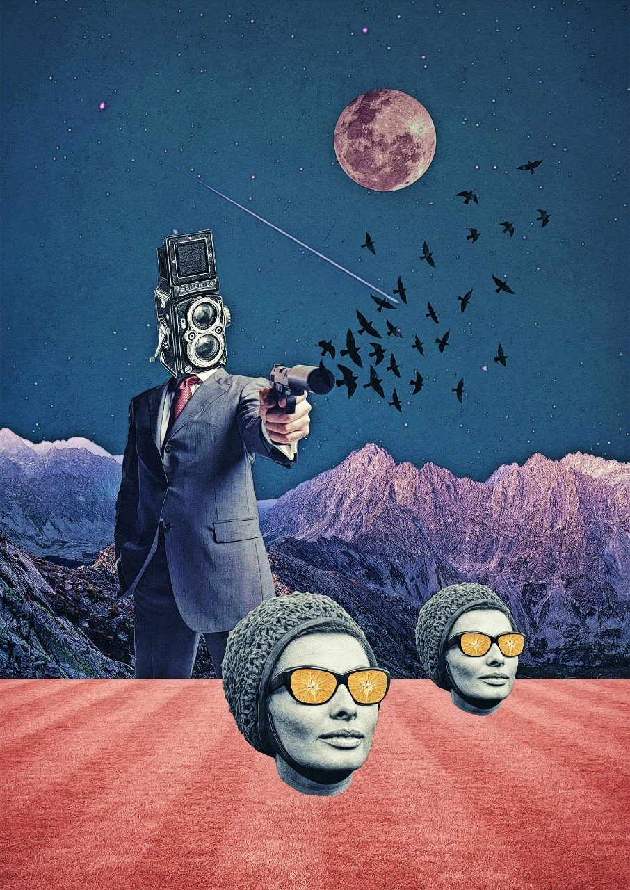 Night Birds The Dreamy Collage Art And Photography Of Sergey Nehaev