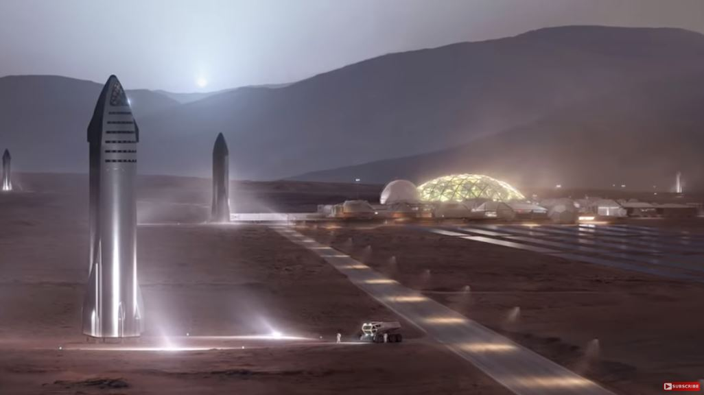 SpaceX Starships Mars