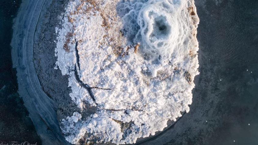 Mirabilite mounds Great Salt Lake