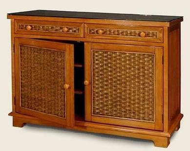 Wicker Dining Set Wicker Dining Chairs Buffet And Hutch