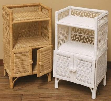 wicker storage shelves | wicker corner cabinet | tall shelf |