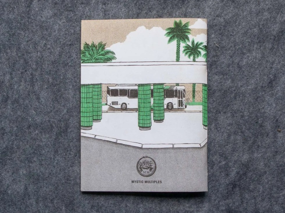 Endless Monsoon IV: Very Pleasant Transit Center risograph comic book by Sarah Welch back cover