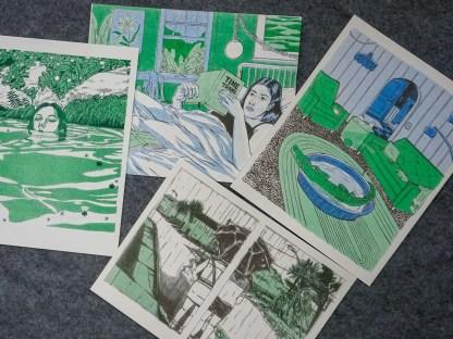 Assorted risograph prints