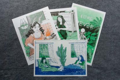 Collection of four risograph prints.