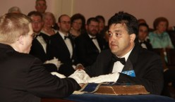 Bro. Philip Privitera takes upon himself the obligations of the Worshipful Master.