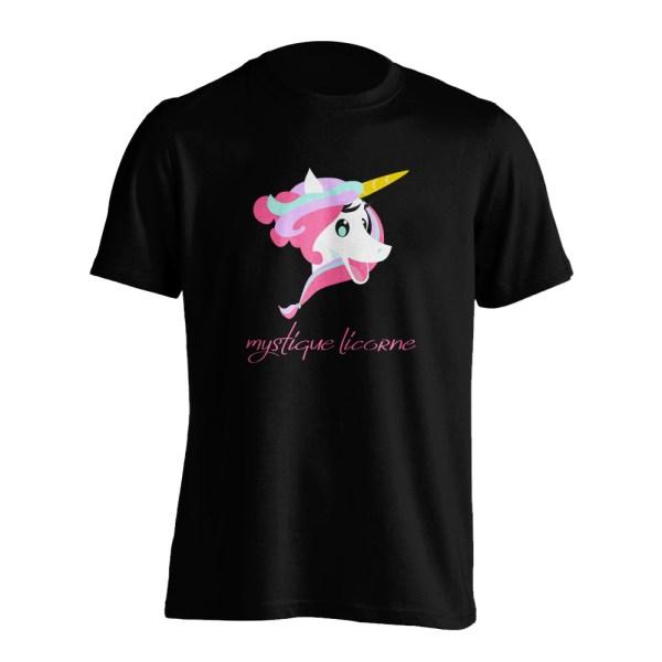 Mystique Licorne t-shirt front black