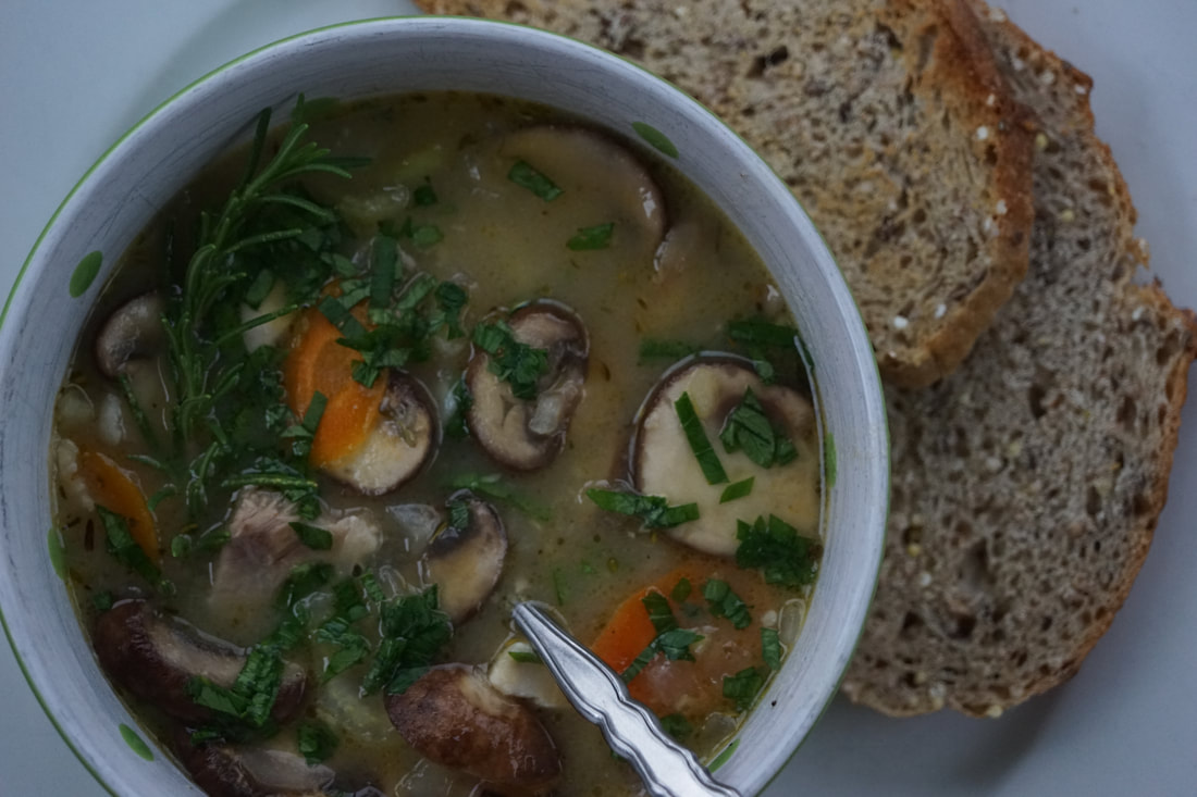 Creamy Chicken and Mushroom Soup - My Story in Recipes