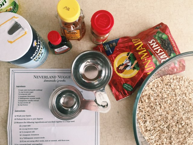 Pirates granola cooking with kids
