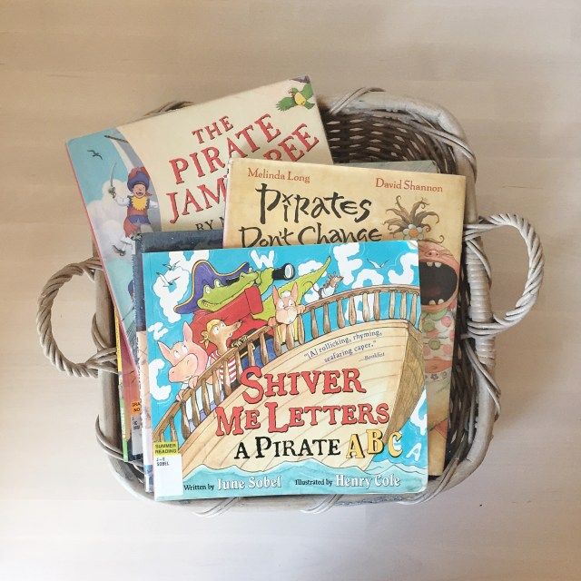 pirate book basket