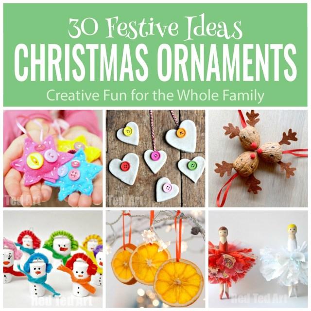 30 Festive Ideas Christmas Ornaments for the whole family