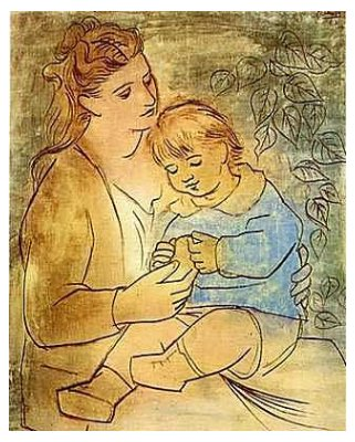 """Mother and Child"", Picasso (1922)"