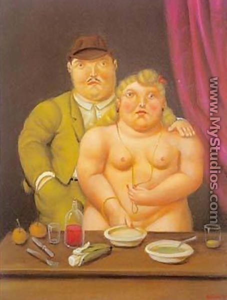Man and Woman 1996 - Fernando Botero