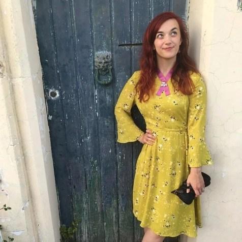 chartreuse dress summer look