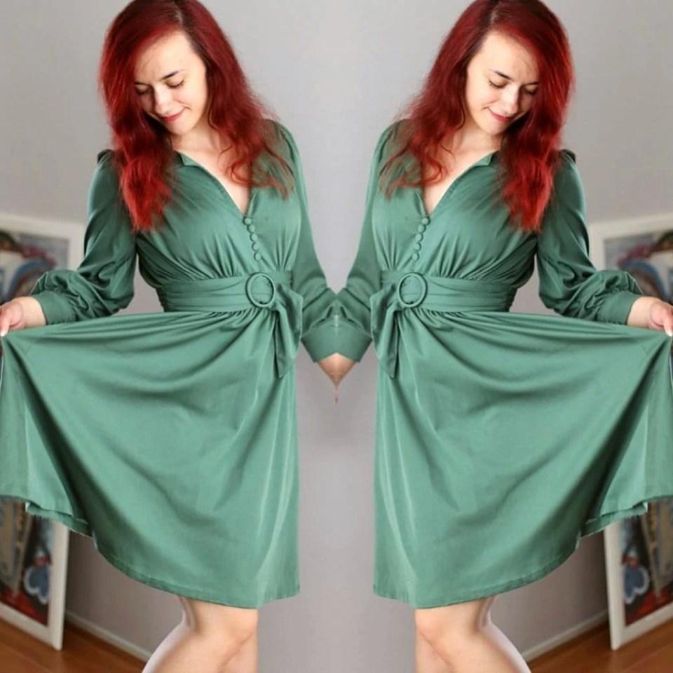 Vintage glam 40's dress..jpg