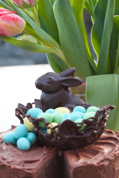 Chocolate Bourbon Easter Cake