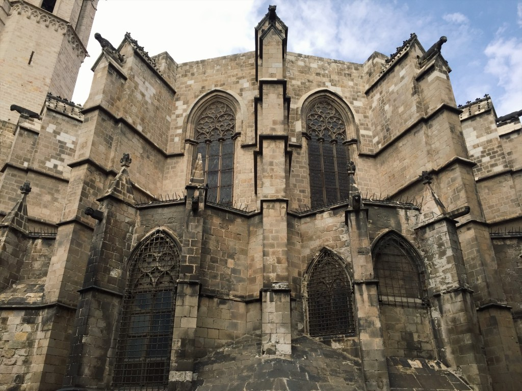 The stoic structure of the Barcelona Cathedral.
