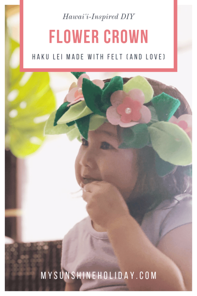 DIY Haku Lei,a Hawaiian Crown of Flowers