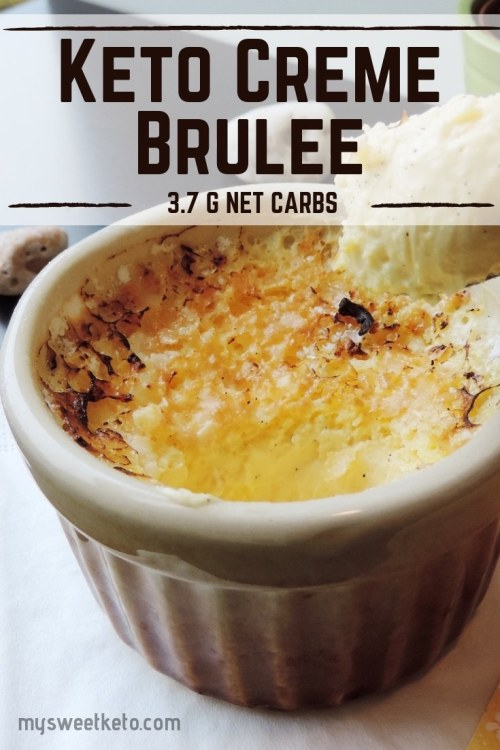 I represent you the ultimate keto version of crème brûlée. I've tried to keep it as close to the original as possible. #keto #ketogenic #ketodiet #ketodessert #recipe