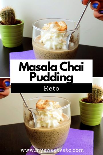 Masala Chai Pudding. Well, what about a nice, cool keto dessert? A pudding, for example. This chia-based Masala Chai Pudding can be consumed either as a dessert, instead of breakfast, or as an afternoon energy boost. #keto #ketogenic #ketodiet #ketodessert #recipe