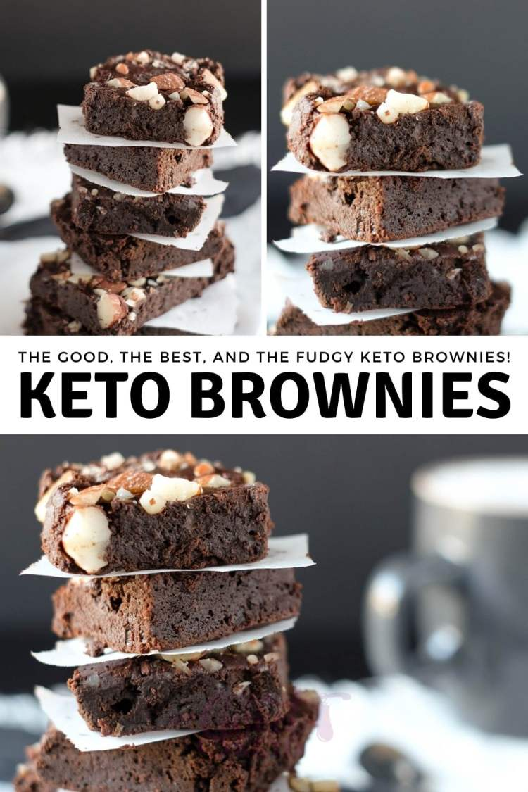 You might not want to believe me before you try this recipe with your own taste buds, but these little chocolate fudgy keto brownies might very likely be among the best brownies you've ever tried, either on or off keto! #ketobrownies #keto #ketogenic #ketodessert